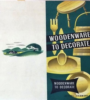 COURTESY OF ROYALTON MEMORIAL LIBRARY - Bethel Woodenware ad designed by Louis C. Chap