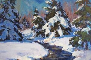 "COURTESY OF GREEN MOUNTAIN FINE ART GALLERY - ""February Morning,"" Eric Tobin"