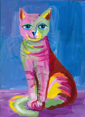 COURTESY OF CATHY STEVENS-PRATT - Cat painting by Cathy Stevens-Pratt
