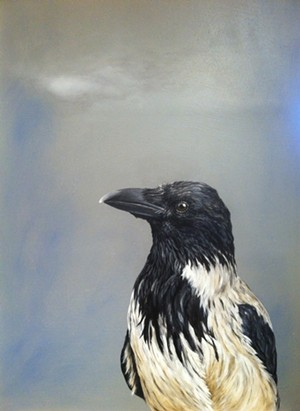 """COURTESY OF CENTRAL VERMONT MEDICAL CENTER - """"Hooded Crow,"""" painting by Linda Mirabile"""