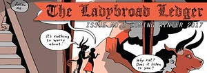COURTESY OF 'THE LADYBROAD LEDGER' - Detail of 'The Ladybroad Ledger' front page