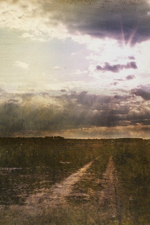 "COURTESY OF 571 PROJECTS - ""Long Road to Sunset"" by Dorothy Simpson Krause"