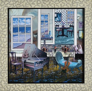 """COURTESY OF BRATTLEBORO MUSEUM & ART CENTER - """"A Room With a View II"""" by Mary Welsh"""
