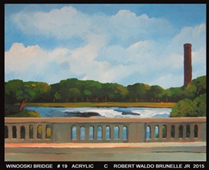 "COURTESY OF SEABA - ""WInooski Bridge #19"" by Robert Waldo Brunelle Jr."