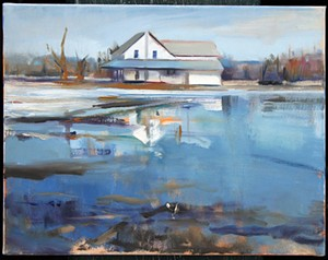 "COURTESY OF THE JACKSON GALLERY - ""Charlie's House, Flood"" by Fred Lower"