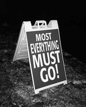 "COURTESY OF BURLINGTON CITY ARTS - ""Most Everything Must Go"" by Matthew Peterson"