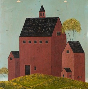 "COURTESY OF BRANDON ARTISTS GUILD - ""Red Barn"" by Warren Kimble"