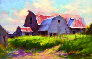 "COURTESY OF EDGEWATER GALLERY - ""Bridport Barn"" by Joe Bolger"