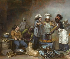 "COURTESY OF HEMHOLZ FINE ART - ""Feast of Venus"" by Elizabeth Torak"