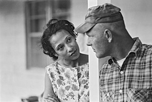 "COURTESY OF MIDDLEBURY COLLEGE MUSEUM OF ART - ""Mildred and Richard Loving, 1965,"" by Grey Villet"