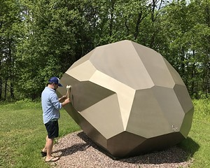 "COURTESY OF COLD HOLLOW SCULPTURE PARK - ""Faceted Rock"" by David Stromeyer"