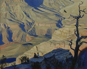"COURTESY OF BRYAN MEMORIAL GALLERY - ""In the Canyon,"" painting by William Hoyt"