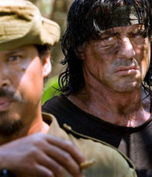 UNDEAD SOLDIER A rather weathered Stallone is back for yet another go-round in the Rambo series' fourth installment.