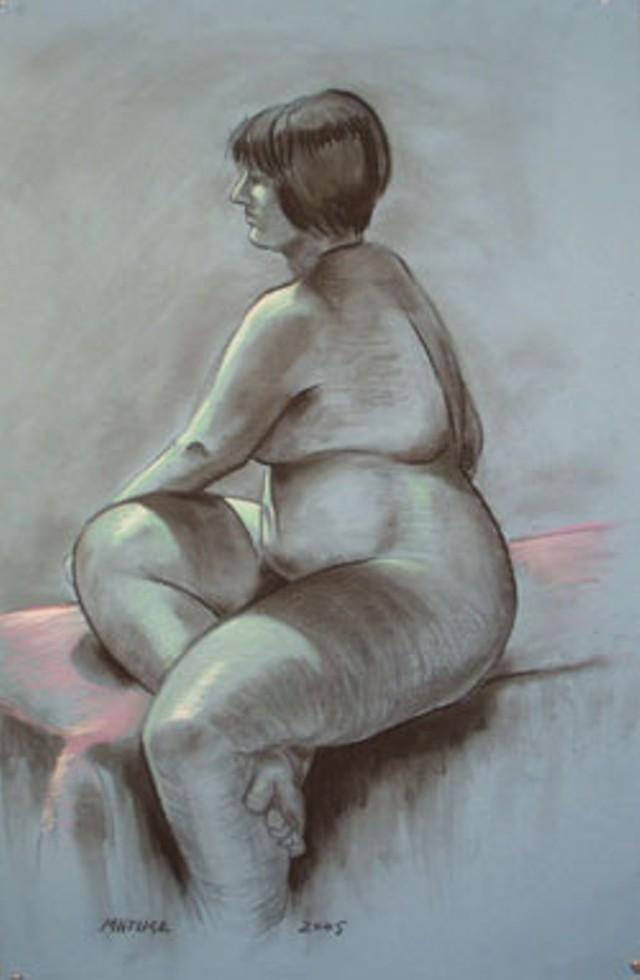 Untitled figure drawing by John Matusz