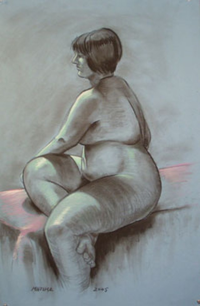 Untitled figure drawing by John Matusz