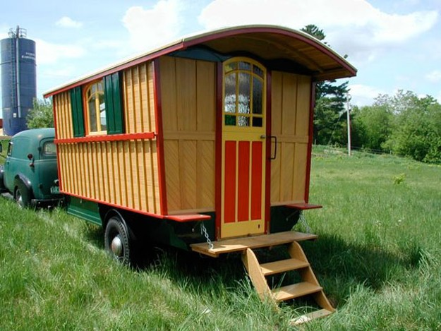 Have trailer will travel diy home seven days vermont 39 s independent voice - The mobile shepherds wagon ...
