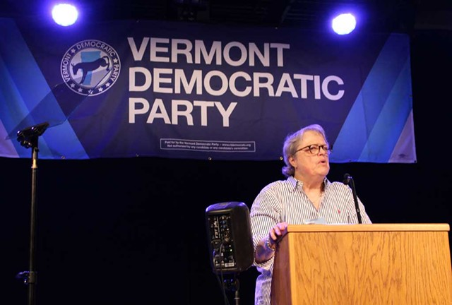 Vermont Democratic Party chairwoman Dottie Deans the Curtis Awards Dinner in June - PAUL HEINTZ
