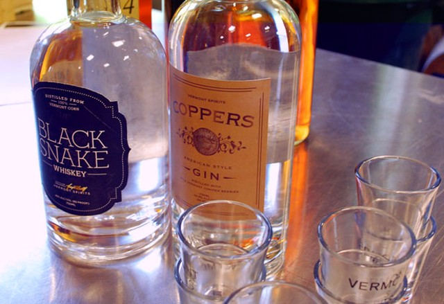 Vermont Spirits' Black Snake Whiskey and Coppers American Style Gin