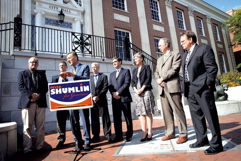 Vermont's mayors endorse Shumlin at Burlington City Hall
