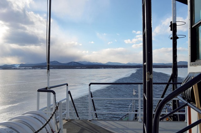 View from a ferry in winter. - FILE PHOTO
