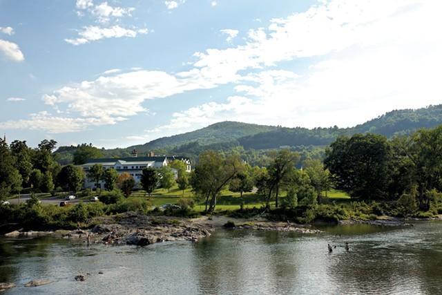 VLS students swim in the White River - BEN DEFLORIO