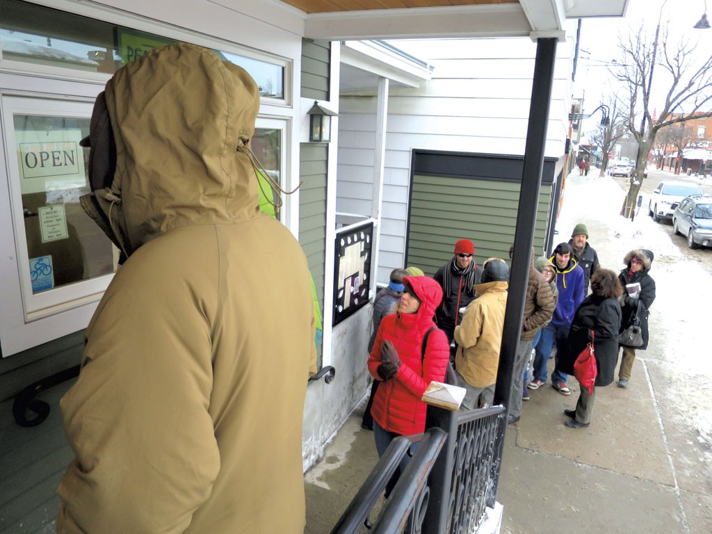 Waiting in line at Penny Cluse - MATTHEW THORSEN