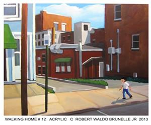 "ROBERT WALDO BRUNELLE JR. - ""Walking Home #12"""