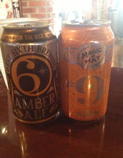 West Sixth Brewing Amber Ale and Magic Hat #9