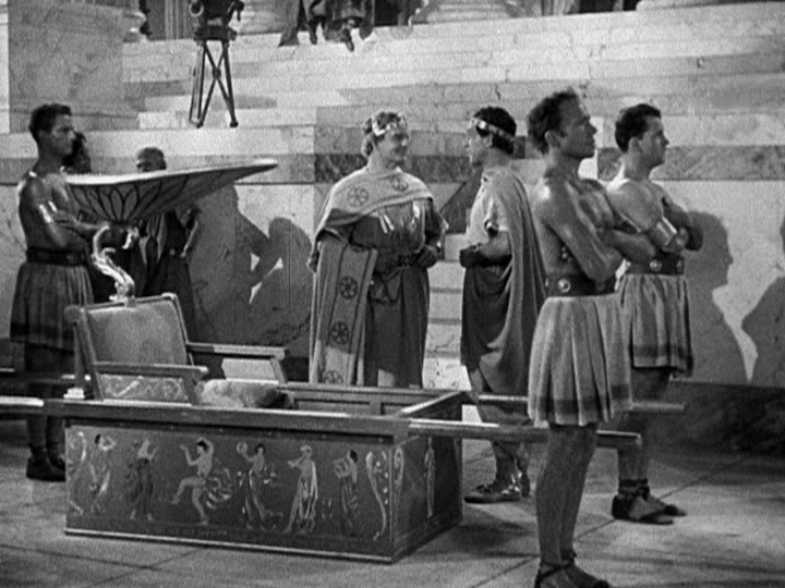 When visiting scenic Pompeii, I always travel by palanquin. - WARNER BROS. PICTURES