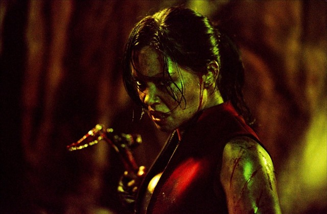 Whether you're human or a crawler, you don't want to mess with Juno in The Descent. - LIONSGATE FILMS