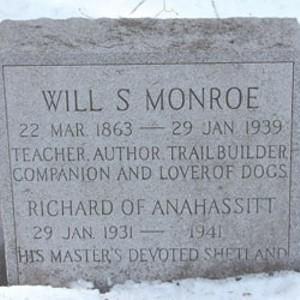 Will S. Monroe's gravestone
