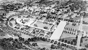 Windham College rendering by Edward Durell Stone