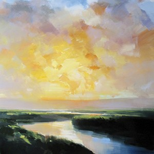 """COURTESY OF WEST BRANCH GALLERY - """"Winding River at Sunset"""" by Craig Mooney"""