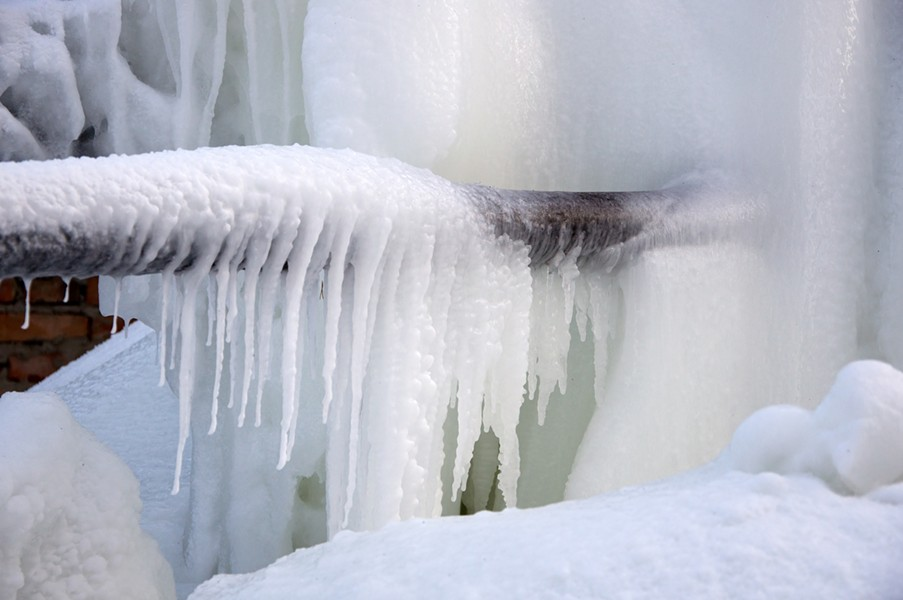 Frozen pipes - DREAMSTIME