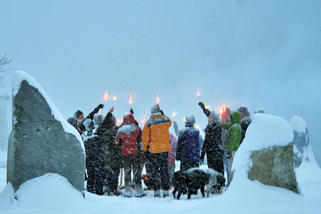 Winter solstice ceremony at Oakledge Park - COURTESY OF DAVID BRIZENDINE