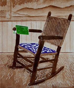 COURTESY OF THE JACKSON GALLERY - Woodblock print by Ray Hudson