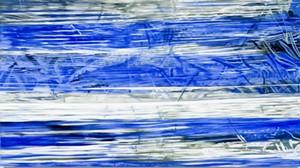 "COURTESY OF JON BARBER - ""Wrapped Blue"" by Leslie Parke"