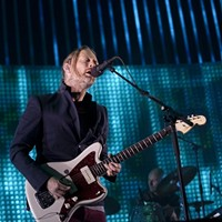 "20 Best San Francisco Concerts of 2012 10. Radiohead at HP Pavilion, April 11     ""Onstage in San Jose last night, Yorke stopped his jigging, bouncing, and limb-shaking only when seated behind a keyboard or saddled with a guitar. The rest of the time, his jester-like figure -- curt ponytail, scraggly beginnings of a beard, comical skinny red pants, plain vest -- fluttered around like a bird that had just eaten a jumping bean."" Kahley Avalon Emerson"