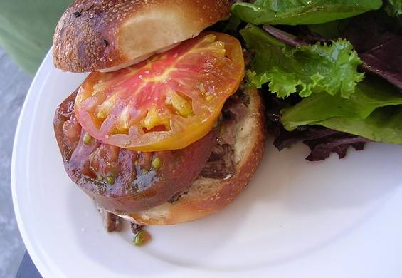 28 hour short rib sandwich on house-baked weck, $8.50. - JOHN BIRDSALL