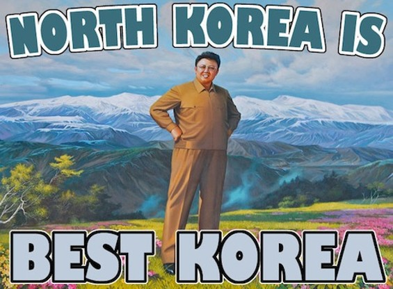 A common North Korea meme.