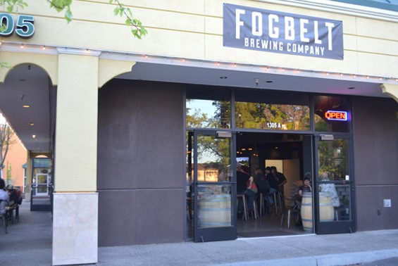 A curbside view of the taproom and brewery - ANASTASIA CROSSON