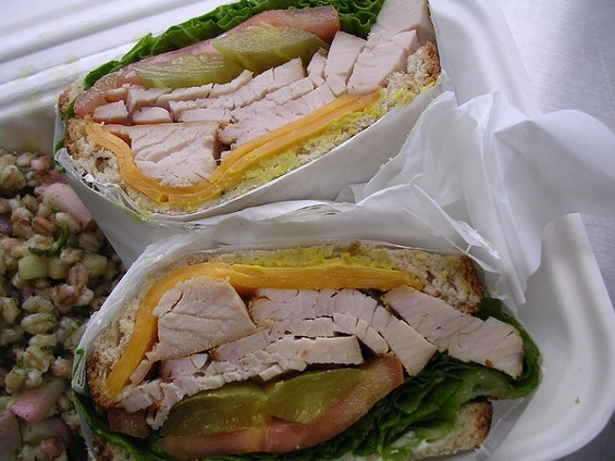 A deli sandwich standard, only without the cold cuts. - JOHN BIRDSALL