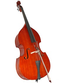 A double bass -- in a single piece