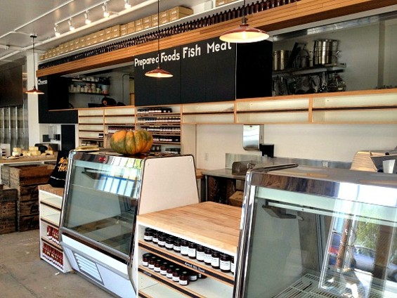 A gleaming butcher case greets you when you walk in. - ANNA ROTH