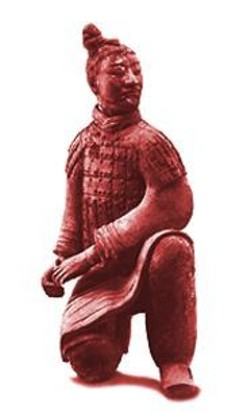 A hardened army of 7,000 terra-cotta soldiers like  this one kept a dead Qin Dynasty emperor company.