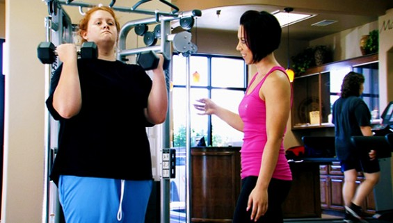 A high school grad works out on I Used to Be Fat. - MTV
