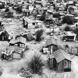 """A """"Hooverville"""" of the 1930s"""