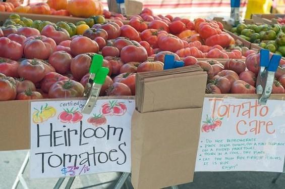Tomatero Farm stall at last week's Mission Community Market. - SEAN TIMBERLAKE