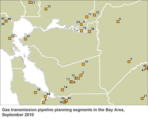 PG&E's priority zones in the Bay Area - PG&E