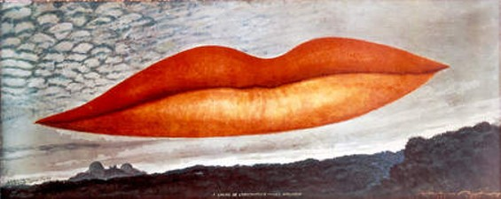 A l'heure de l'observatoire--les amoureux (Observatory Time-The Lovers), c. 1931. - MAN RAY TRUST/ARTISTS RIGHTS SOCIETY (ARS)